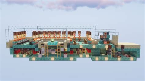 Villager Trading Hall with Zombies and Work Hour Indicator
