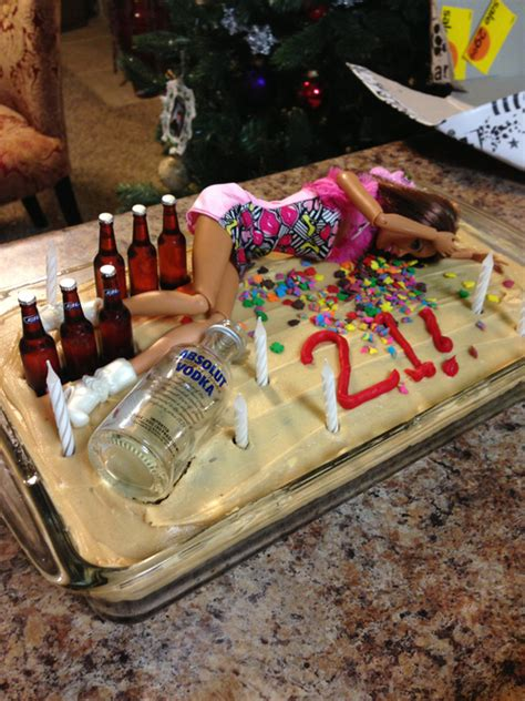 Drunk Passed Out Barbie Doll Wild Party Happy 21st