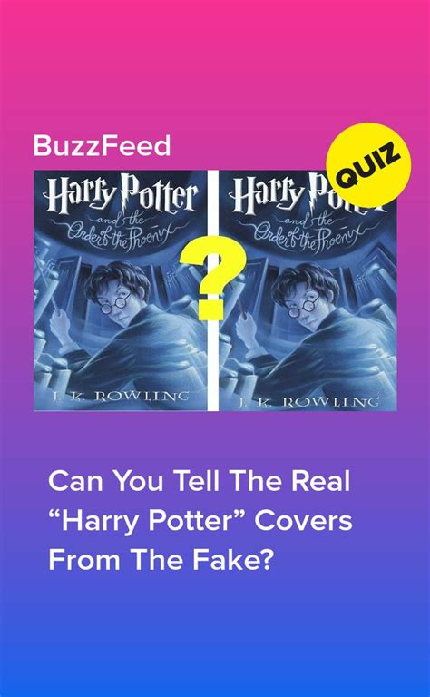 """Can You Tell The Real """"Harry Potter"""" Covers From The Fake"""