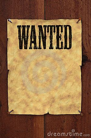 Wanted Poster Royalty Free Stock Image - Image: 9421926