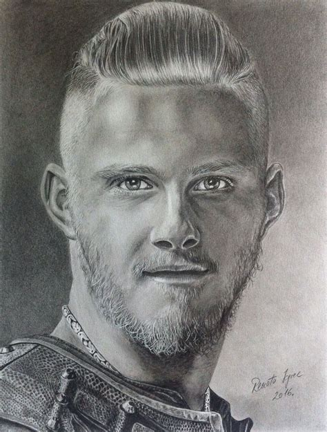 Bjorn from Vikings done with graphite pencils on A3 paper