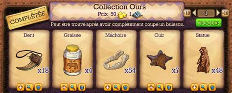 Collection ours - klondike Astuces