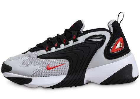 Nike Zoom 2K noir rouge blanc - Chaussures Baskets homme