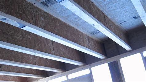 TJI Floor Framing and Support Beams - YouTube