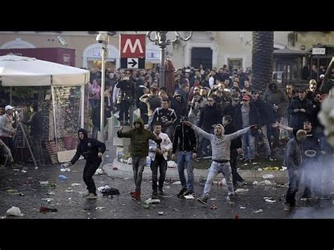 Football violence in Rome prompts outcry over damage to