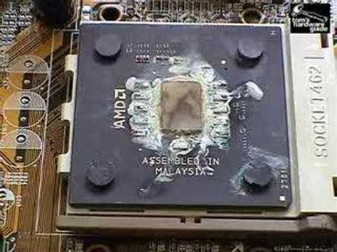 What happens when a CPU heatsink is removed - YouTube
