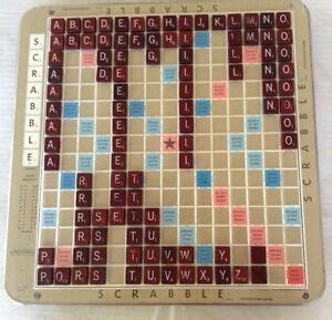 Vintage Scrabble Deluxe Edition With Turntable Base 1982