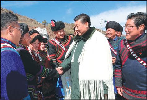 general secretary xi jinping greets local residents in