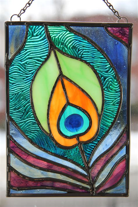 Peacock Feather Stained Glass on Behance
