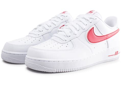 Nike Air Force 1 '07 blanche et rouge - Chaussures Baskets