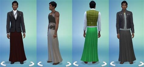 Long skirt for males! 28 colors by Velouriah at Mod The