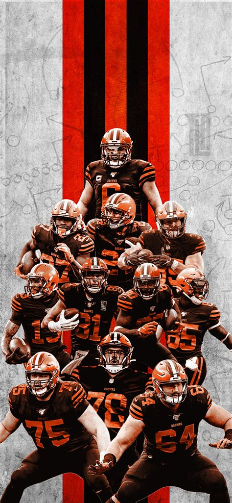 2020 Cleveland browns IPhone Wallpaper on Behance