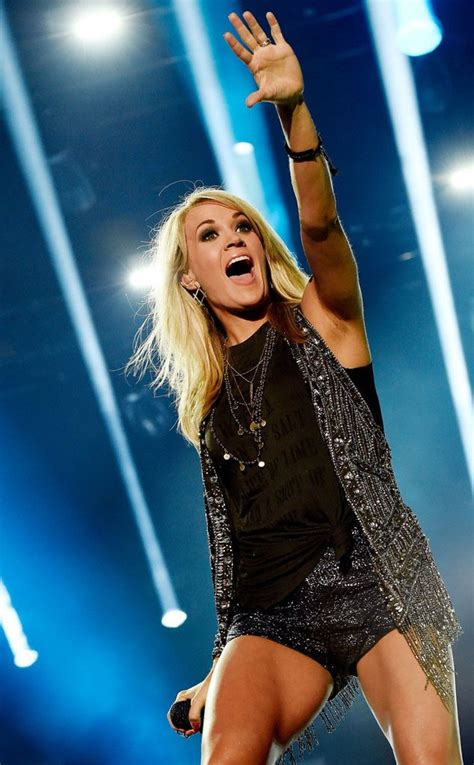Carrie Underwood Shows Trim Post-Baby Body at CMA Festival