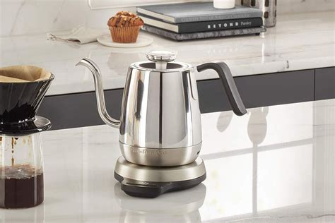 This high-tech electric gooseneck precision kettle is half