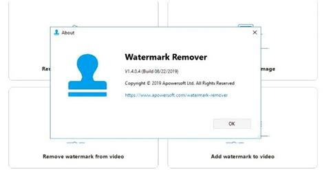 Apowersoft remove watermark from video tool