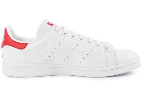 adidas Stan Smith Blanche et rouge - Chaussures Homme