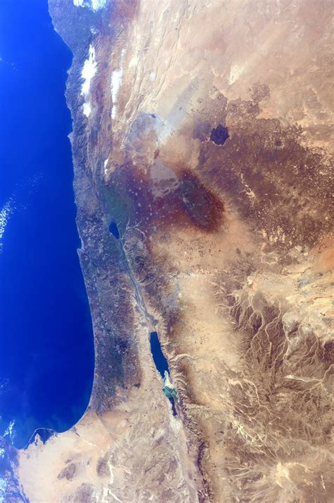 NASA Space Photos of Israel from the International Space