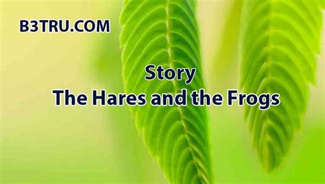 Write a story on the hares and the frogs | B3STRU story
