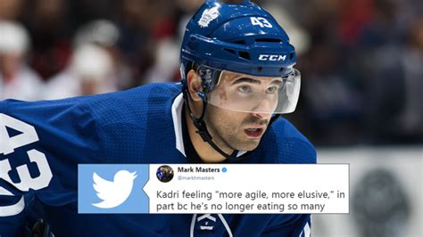 Nazem Kadri gave a funny reason why he was able to cut his