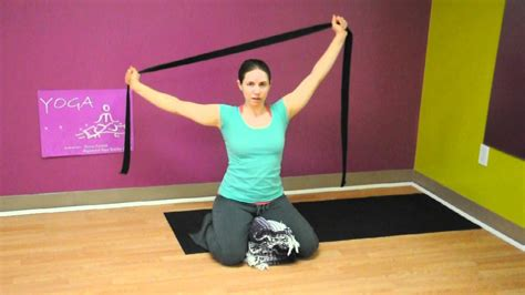 Easy Shoulder Stretches with Yoga Strap - YouTube