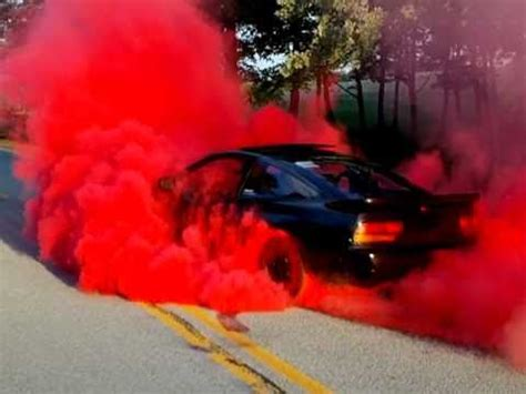 240SX Red Burnout - YouTube
