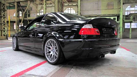 M3 CSL with custom made exhaust - YouTube