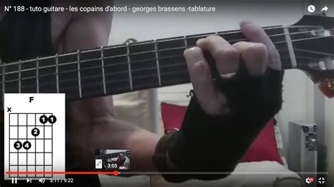 N° 188 - tuto guitare - les copains d'abord - georges