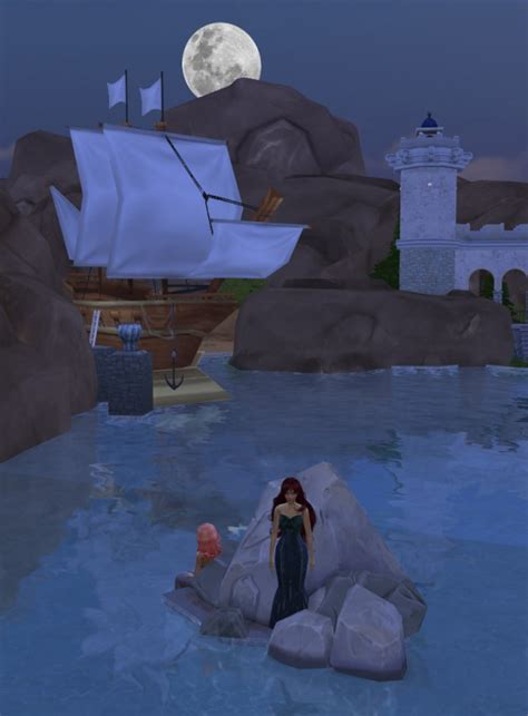 Mod The Sims: Mermaid loved castle, 2 sizes available by