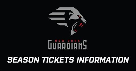 New York Guardians announce season ticket pricing