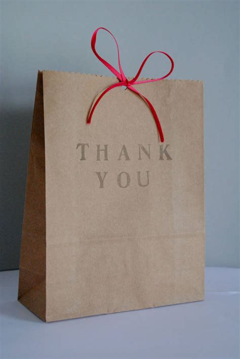 pack of five 'thank you' gift bags by creative and