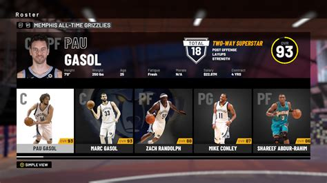 NBA 2K19: All-Time Memphis Grizzlies Player Ratings and