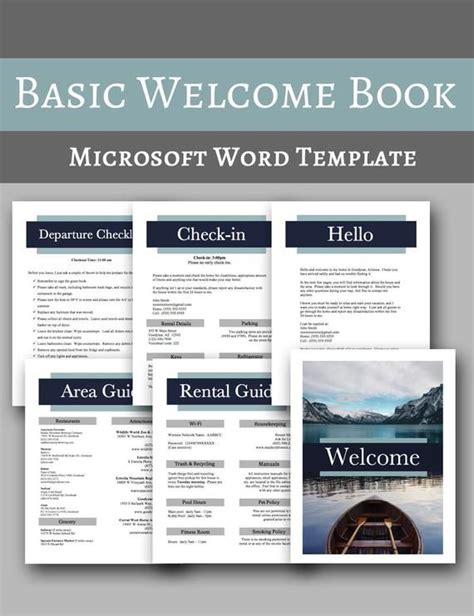 Basic Welcome Book -- Vacation Home Welcome Book Template