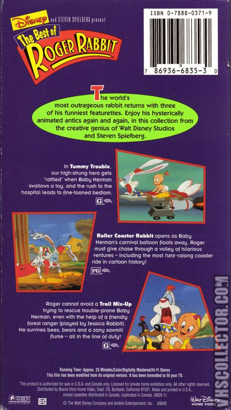 The Best of Roger Rabbit   VHSCollector