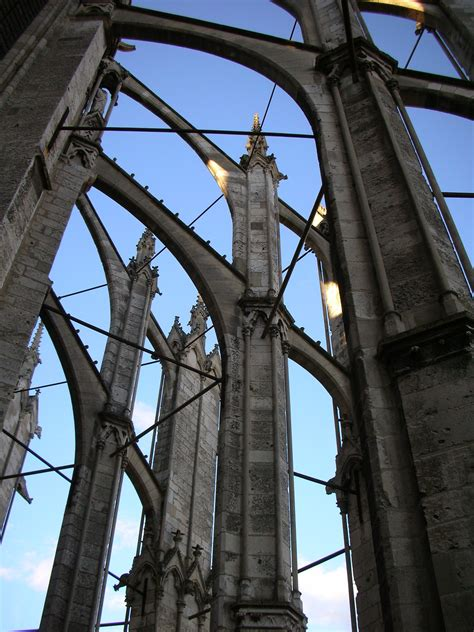 Gothic cathedrals blend iron and stone