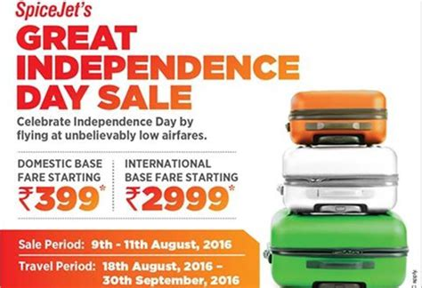 PHOTOS: SpiceJet offer 2016: Great Independence Day Sale