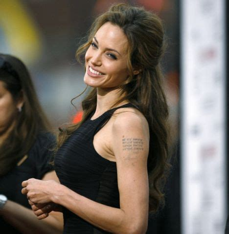 Angelina's film tattoos inspired by stirring words of Sir