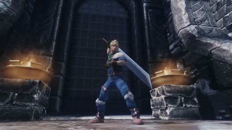 Cloud - Final Fantasy 7CC Clothes and Hairstyle at Skyrim