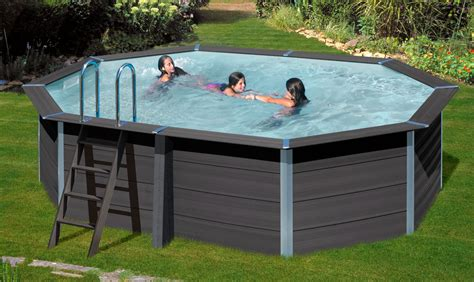 WPC Composite Pool 5,24 x 3,86 x 1,24 m inkl