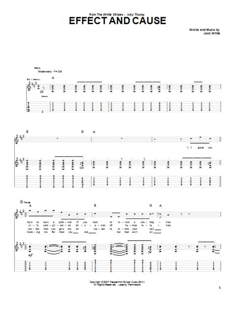 Effect And Cause   Sheet Music Direct