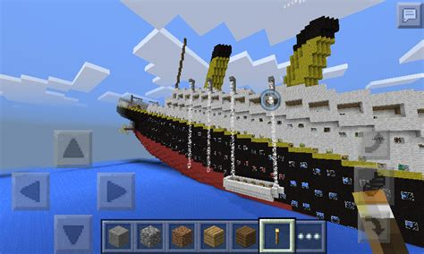 RMS Titanic Sinking In Minecraft Pocket Edition - MCPE