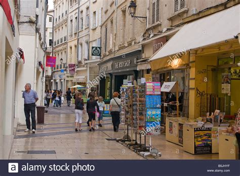 Pedestrianised shopping area in Avignon Vaucluse Provence