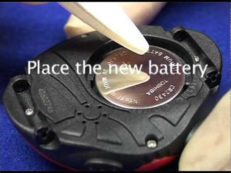 Suunto Vector - How to replace the battery - YouTube