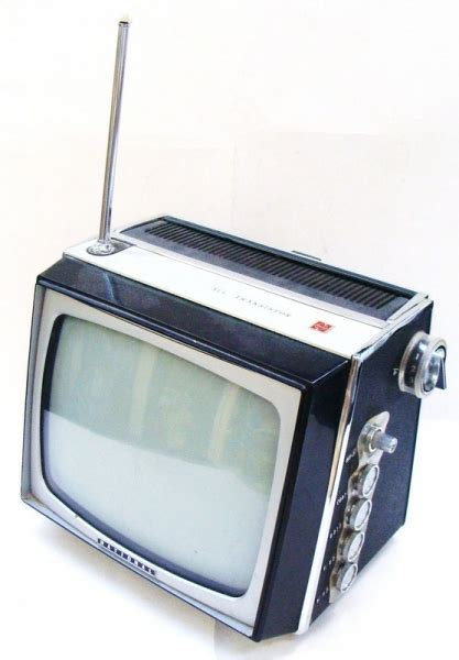 Vintage small Portable National television - all
