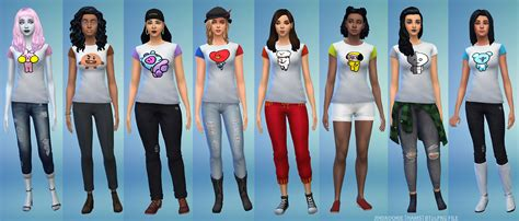 BTS - BT21 T-Shirts for Sims4 [Link Here] | JINKOOK