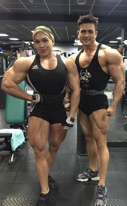 Big and Buff Bodybuilding Couple - Funny - Faxo