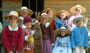 Life of the Pilgrim children in Plymouth