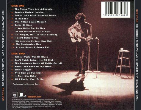 jfn music-the listening room: Bob Dylan Discography